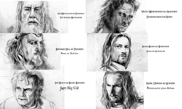 Lord of The Rings Pencil Drawings Pencil Drawings on Behance