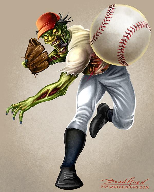 Digital Character Design And Painting Pdf : Zombie sports mascots on behance
