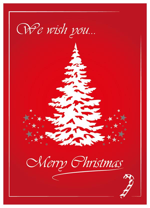 Christmas card design Illustrator