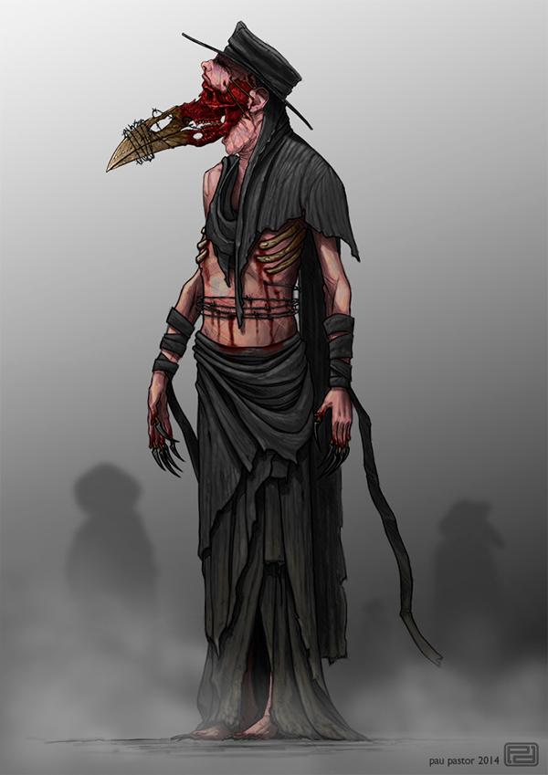 Darkest Dungeon Plague Doctor Concept Art