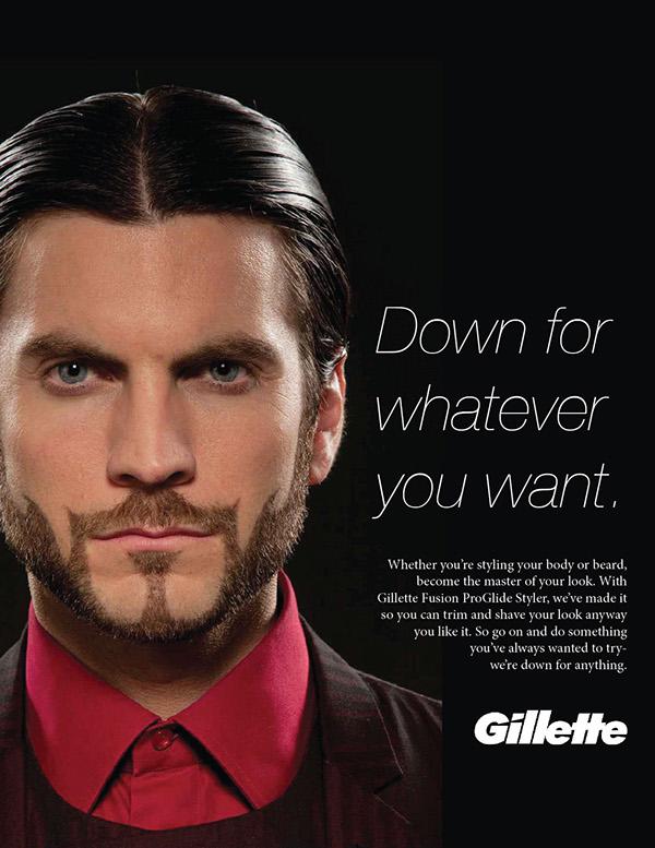 Print ad- Gillette ProGlide Styler on Behance