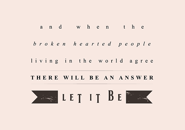 The Beatles Quotes Magnificent The Beatles' Lyric Quotes On Behance