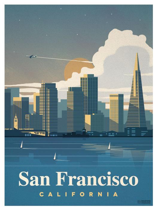 San Francisco City Poster On Behance