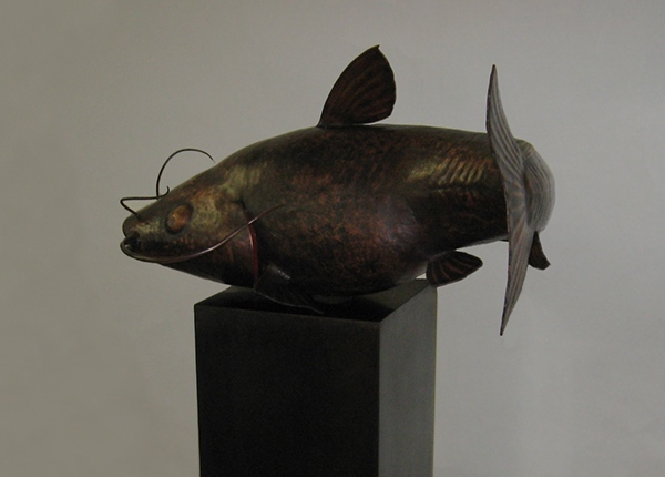 Copper Catfish Sculpture Hand Hammered Sheet Metal On Behance