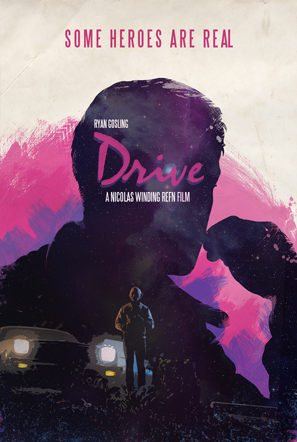 drive movie poster on behance. Black Bedroom Furniture Sets. Home Design Ideas