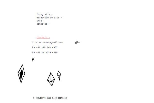 flor rormoser Fotografia diseño Web HTML