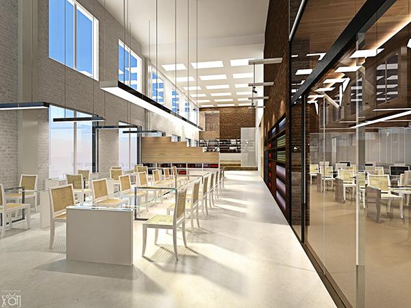 Hanoi public library interior design project concept on for Library designs interior