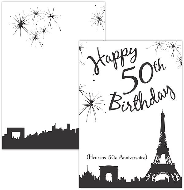 Paris Themed 50th Birthday Invitation On Behance
