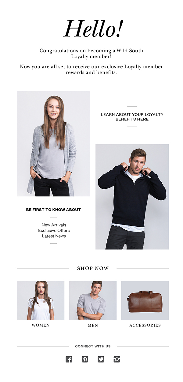 email marketing campaigns wild south clothing on behance