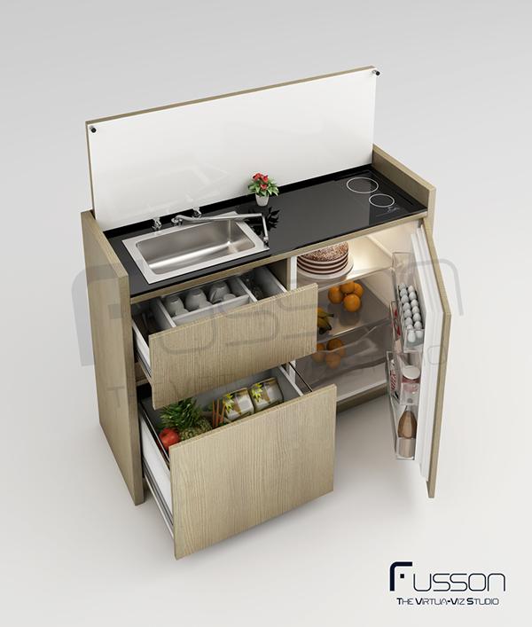 Minimalistic Multipurpose Mini Kitchen On Behance