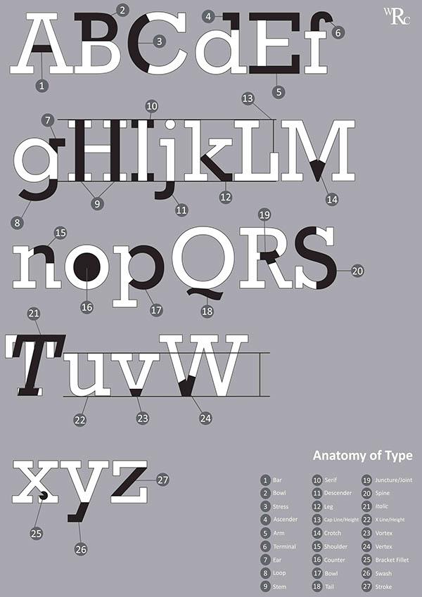 Type Anatomy Rockwell On Behance