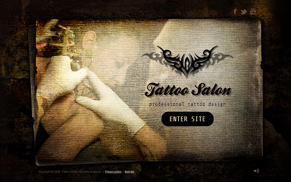 Tattoo Salon Professional Design HTML5 Template On Behance