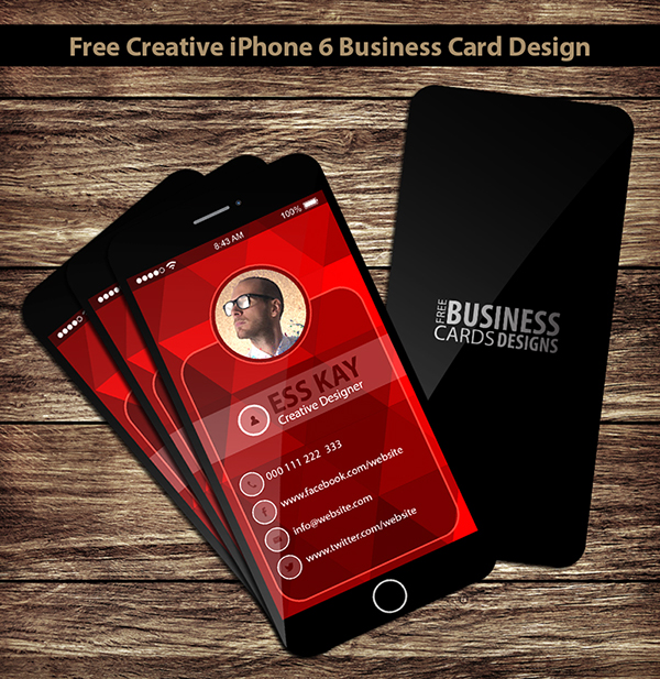 FREE CREATIVE IPHONE BUSINESS CARD DESIGN On Behance - Iphone business card template free