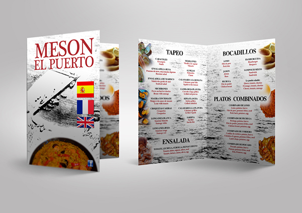 Dise o carta men para restaurante on pantone canvas gallery - Diseno para restaurantes ...