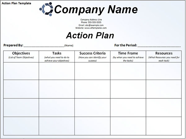 How Action Plan Template Works on Behance