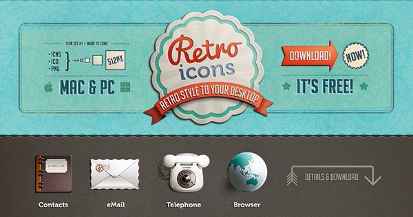 icons Retro Icon download free freebie