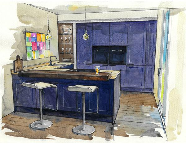 高品質的19套室內設計手繪欣賞