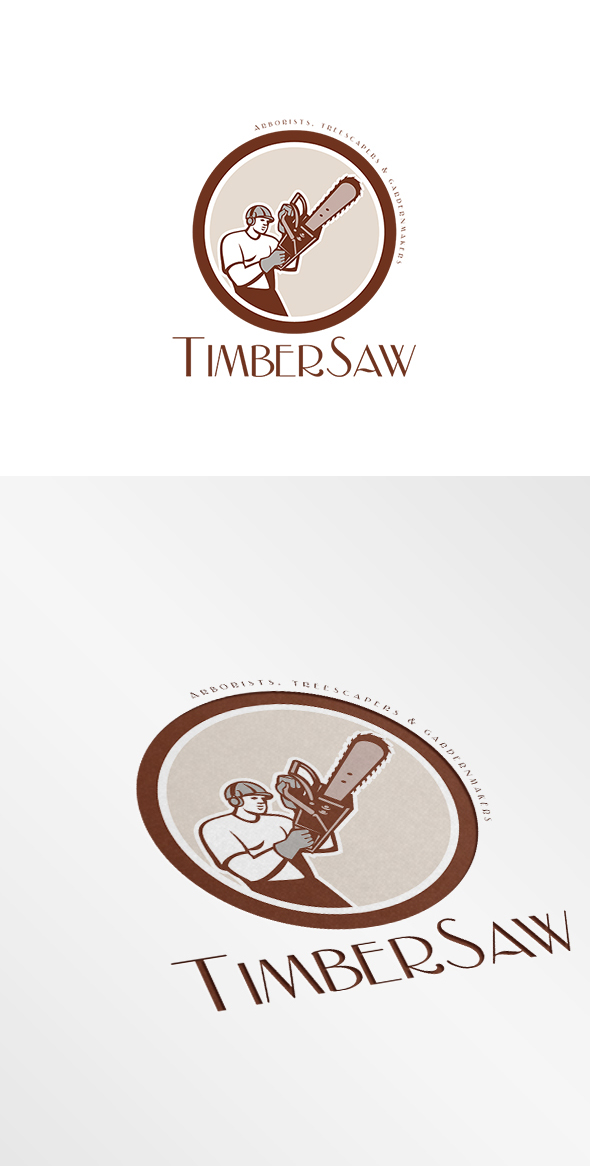 Timbersaw Arborists And Treescapers Logo On Behance