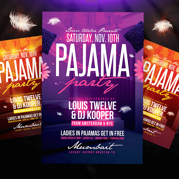 Pajama Party Flyer Instagram Promo On Behance