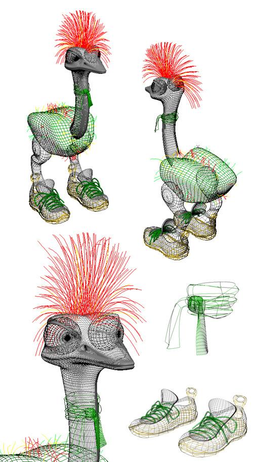 ostrich athlete