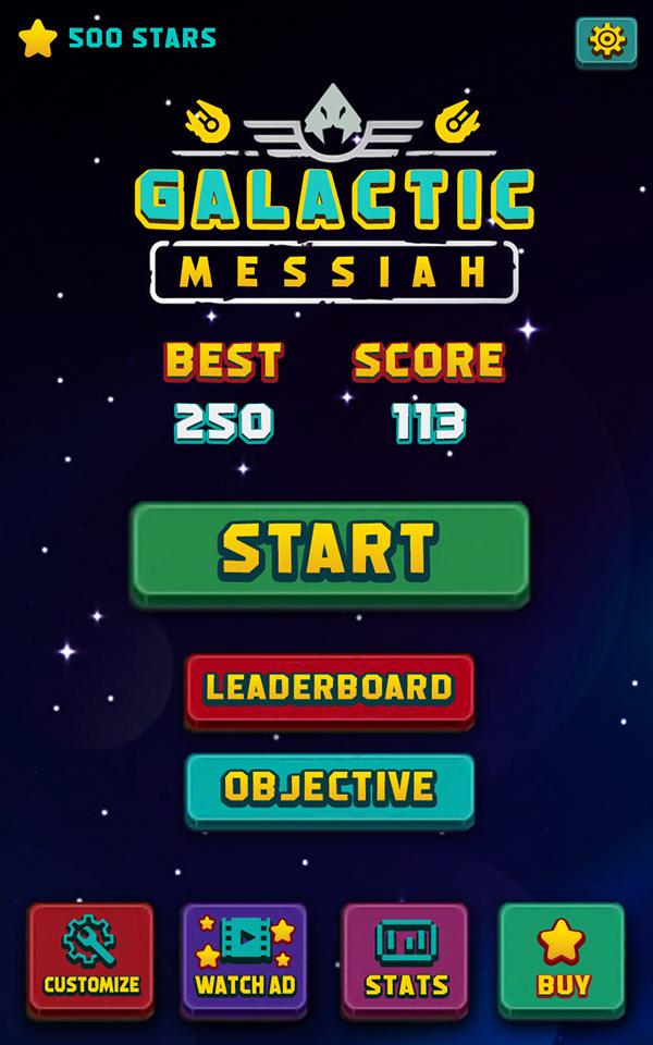 Galactic Messiah Menu Design Game Ui On Wacom Gallery - Game menu design