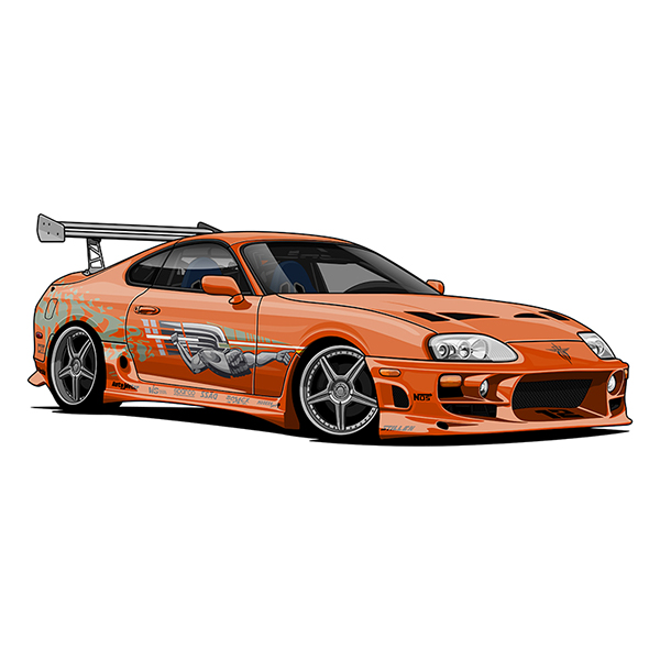 Toyota Supra Mark Iv Twin Turbo Vector Art On Behance