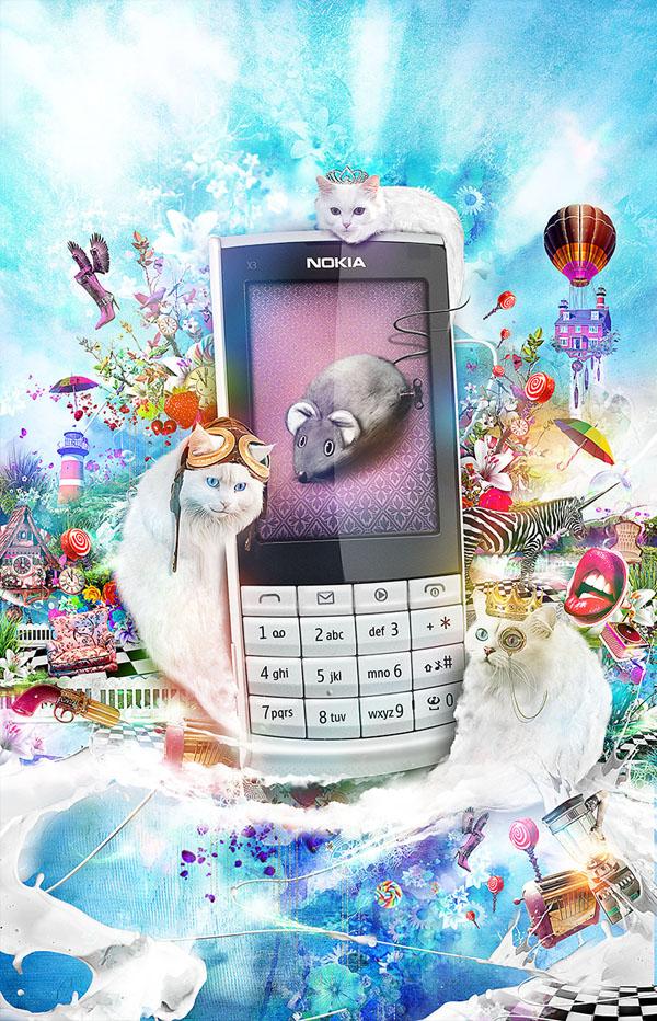 phone djuice nokia digital artdigital illustration