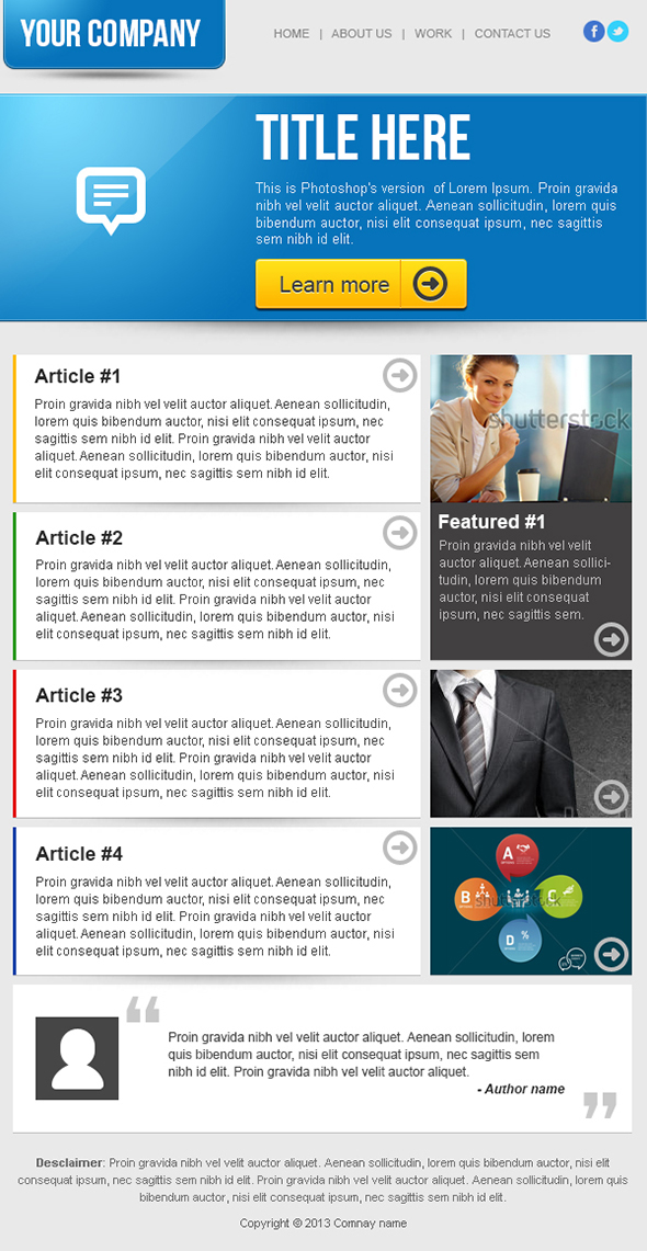 Free Newsletter Templates Examples 10+ Free Templates