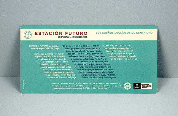 Estación Futuro Logotipo intermediae Logotype logo buckminster fuller Matadero Madrid