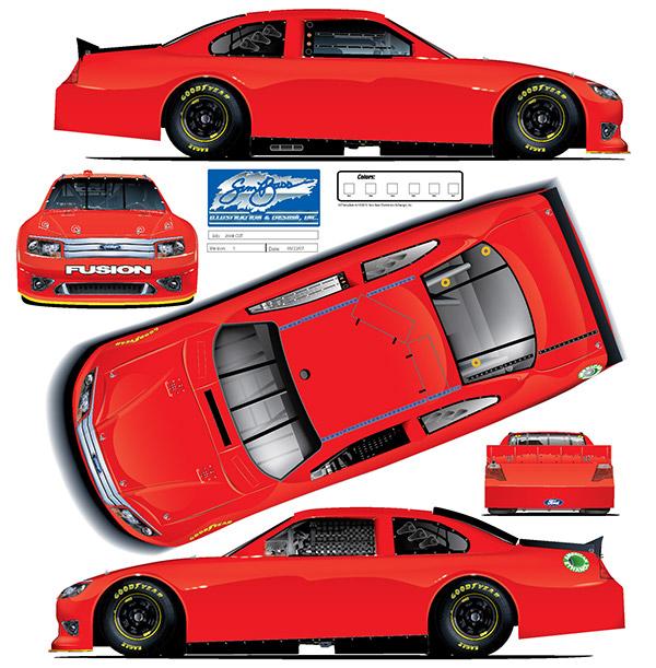 Race Car Paint Scheme Template