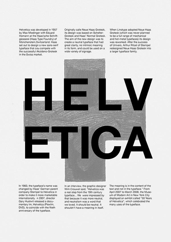 Helvetica Series on Behance