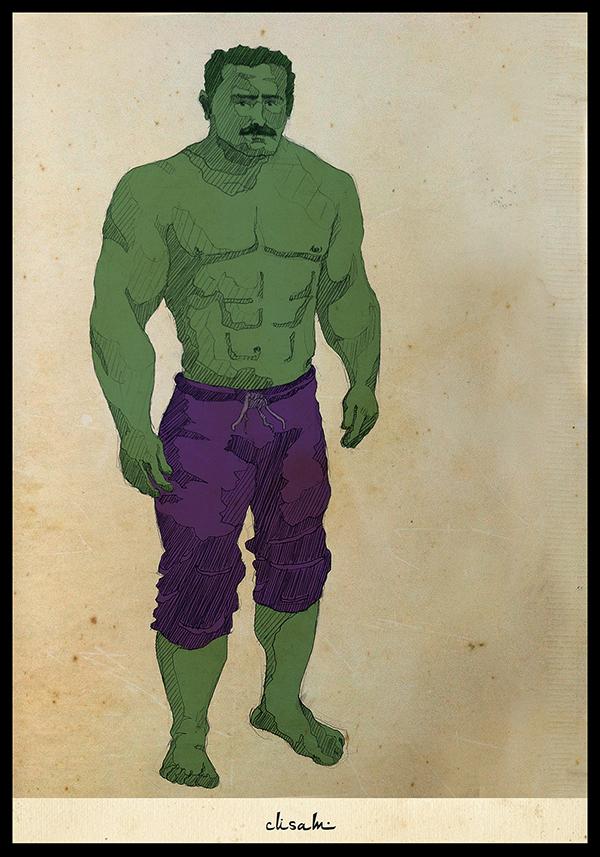 JLA batman superman ottoman Leon blues brothers Hulk joker taxi driver frodo gandalf grease Han Solo Chewbacca scarface