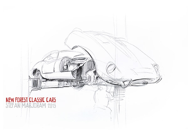 New Forest Classic Cars Sketches On Behance