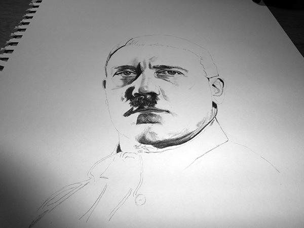 Hr Illustration Hitler On Behance