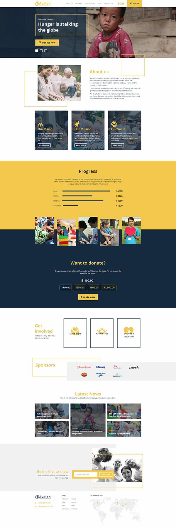 Avalon - A Charity Website