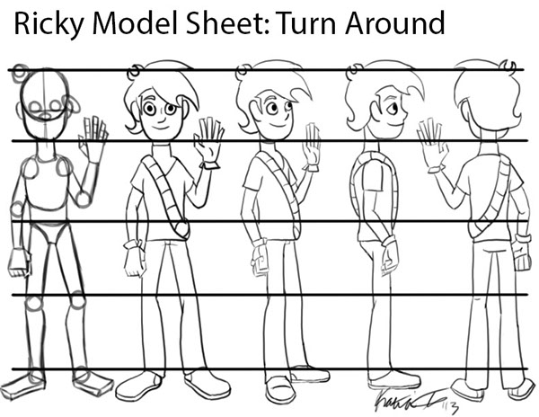 Model Sheets Character Design 2d Production Model Sheets on