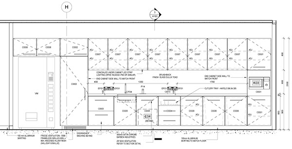 Cad Details  Cross Sections  Prodraft  Cad Ref  Pinterest Simple Autocad For Kitchen Design Inspiration Design