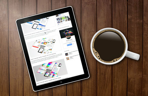 tablet mockup template free on behance