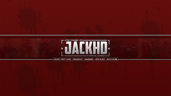 2D YouTube Banner Design: (Gaming Related) [#2] on Behance