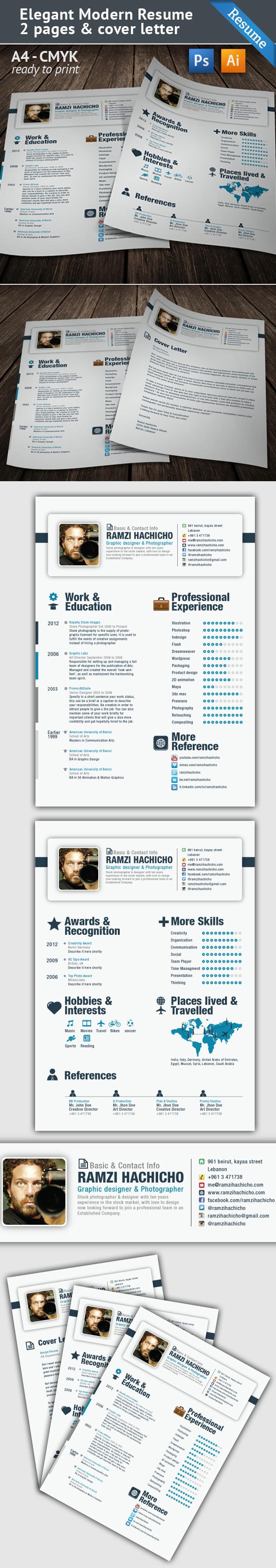 elegant modern resume on behance