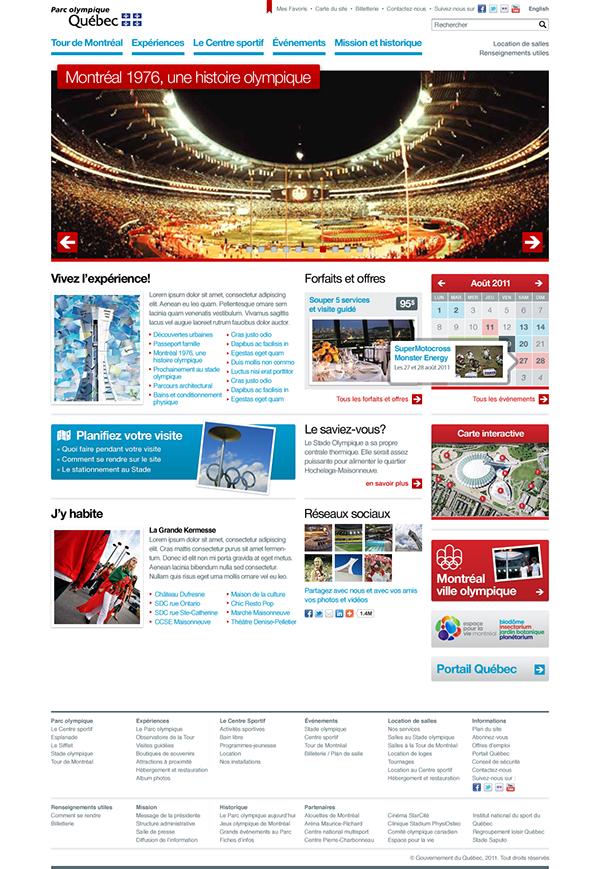 Olympique Site corporatif