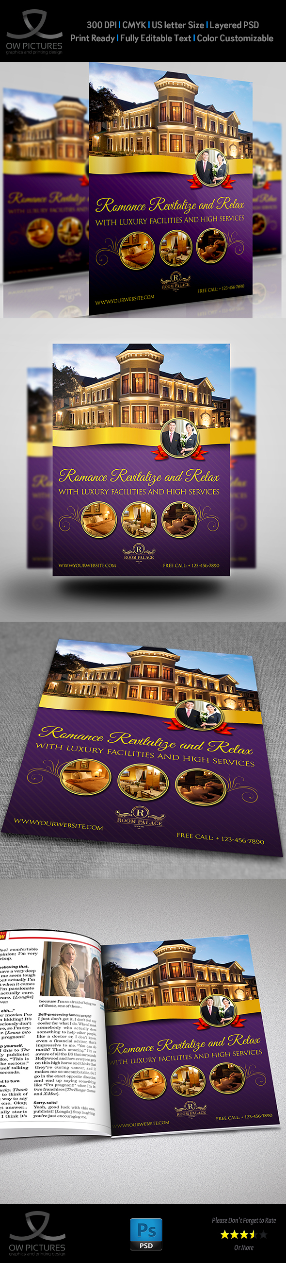 Hotel Flyer Template On Behance