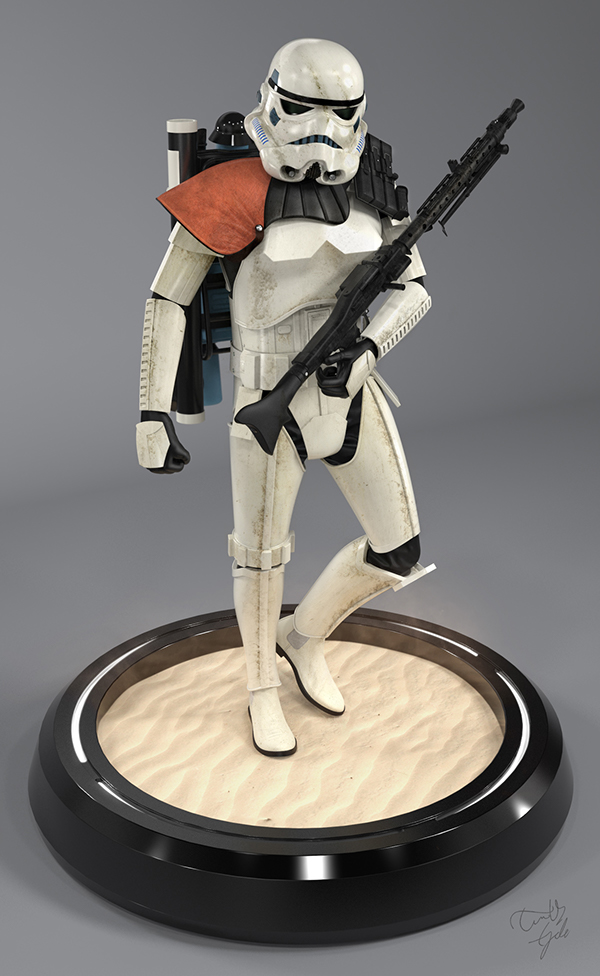 star wars 3d models stormtroopers on behance. Black Bedroom Furniture Sets. Home Design Ideas