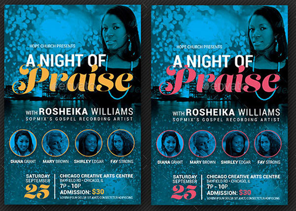 Praise Concert Flyer and Poster Template on Behance – Concert Flyer