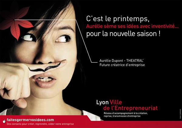 affiche campagne lyon Appel d'offre Webdesign