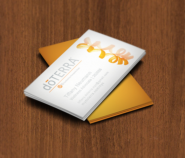 dōTERRA Wellness Advocate business card design on Behance