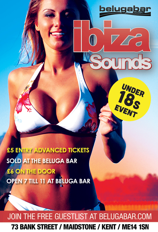flyer  Flyer Design a5 print Ibiza Sounds ibiza club  club flyer  Beluga Bar