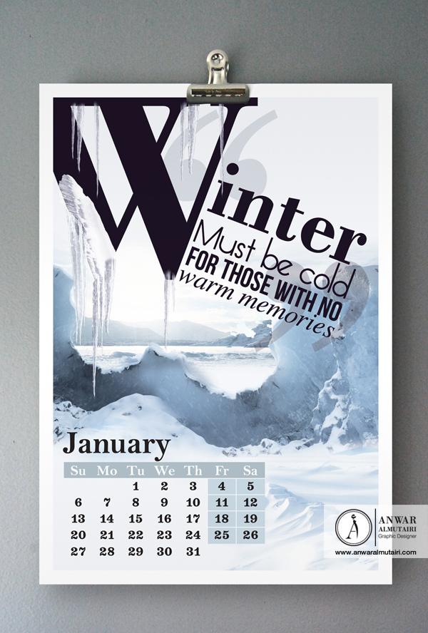 Calendar Typography S : Visual poetry calendar typography on behance