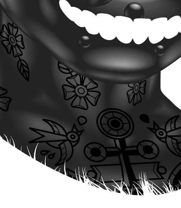 black world yury ustsinau black  dark art White glossy tattoo