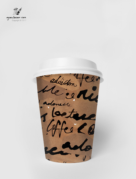 coffee tea paper cup design on behance